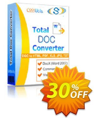 Coolutils Total Doc Converter (Commercial License) discount coupon 30% OFF Coolutils Total Doc Converter (Commercial License), verified - Dreaded discounts code of Coolutils Total Doc Converter (Commercial License), tested & approved