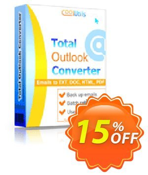 Coolutils Total Outlook Converter Pro (Server License) Coupon, discount 15% OFF Coolutils Total Outlook Converter Pro (Server License), verified. Promotion: Dreaded discounts code of Coolutils Total Outlook Converter Pro (Server License), tested & approved