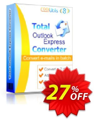 Coolutils Total Outlook Express Converter (Commercial License) discount coupon 27% OFF Coolutils Total Outlook Express Converter (Commercial License), verified - Dreaded discounts code of Coolutils Total Outlook Express Converter (Commercial License), tested & approved