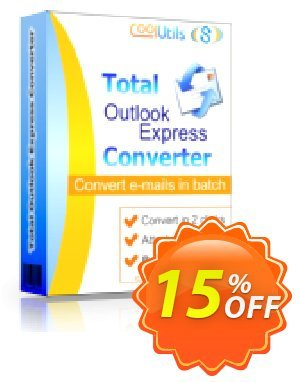 Coolutils Total Outlook Express Converter (Commercial License) discount coupon 15% OFF Coolutils Total Outlook Express Converter (Commercial License), verified - Dreaded discounts code of Coolutils Total Outlook Express Converter (Commercial License), tested & approved