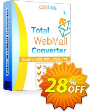 Coolutils Total Webmail Converter (Commercial License) discount coupon 27% OFF Coolutils Total Webmail Converter (Commercial License), verified - Dreaded discounts code of Coolutils Total Webmail Converter (Commercial License), tested & approved