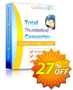 Coolutils Total Thunderbird Converter (Commercial License) Coupon, discount 27% OFF Coolutils Total Thunderbird Converter (Commercial License), verified. Promotion: Dreaded discounts code of Coolutils Total Thunderbird Converter (Commercial License), tested & approved