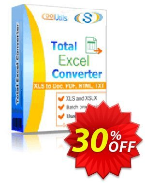 Coolutils Total Excel Converter (Commercial License) 優惠券,折扣碼 30% OFF Coolutils Total Excel Converter (Commercial License), verified,促銷代碼: Dreaded discounts code of Coolutils Total Excel Converter (Commercial License), tested & approved