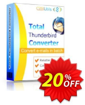 Coolutils Total Thunderbird Converter Pro (Commercial License) discount coupon 20% OFF Coolutils Total Thunderbird Converter Pro (Commercial License), verified - Dreaded discounts code of Coolutils Total Thunderbird Converter Pro (Commercial License), tested & approved