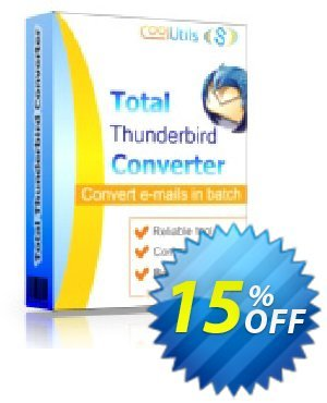Coolutils Total Thunderbird Converter Pro (Server License) discount coupon 15% OFF Coolutils Total Thunderbird Converter Pro (Server License), verified - Dreaded discounts code of Coolutils Total Thunderbird Converter Pro (Server License), tested & approved