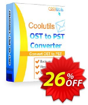 Coolutils OST to PST Converter (Commercial License) Coupon discount 15% OFF Coolutils OST to PST Converter, verified. Promotion: Dreaded discounts code of Coolutils OST to PST Converter, tested & approved