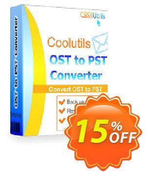 Coolutils OST to PST Converter (Site License) discount coupon 15% OFF Coolutils OST to PST Converter, verified - Dreaded discounts code of Coolutils OST to PST Converter, tested & approved