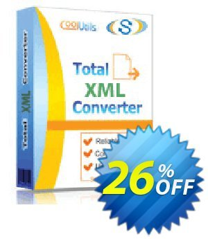Coolutils Total XML Converter (Commercial License) Coupon, discount 15% OFF Coolutils Total XML Converter, verified. Promotion: Dreaded discounts code of Coolutils Total XML Converter, tested & approved