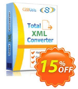Coolutils Total XML Converter (Server License) Coupon, discount 15% OFF Coolutils Total XML Converter, verified. Promotion: Dreaded discounts code of Coolutils Total XML Converter, tested & approved