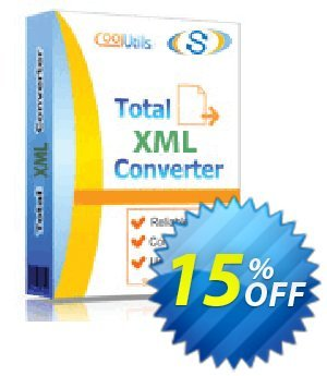 Coolutils Total XML Converter (Site License) discount coupon 15% OFF Coolutils Total XML Converter, verified - Dreaded discounts code of Coolutils Total XML Converter, tested & approved