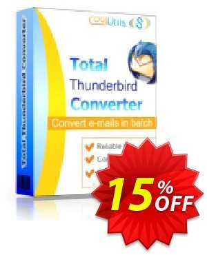 Coolutils Total Thunderbird Converter (Site License) Coupon, discount 15% OFF Coolutils Total Thunderbird Converter (Site License), verified. Promotion: Dreaded discounts code of Coolutils Total Thunderbird Converter (Site License), tested & approved