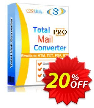 Coolutils Total Mail Converter Pro (Commercial License) discount coupon 20% OFF Coolutils Total Mail Converter Pro (Commercial License), verified - Dreaded discounts code of Coolutils Total Mail Converter Pro (Commercial License), tested & approved