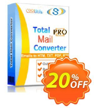 Coolutils Total Mail Converter Pro (Commercial License) Coupon, discount 20% OFF Coolutils Total Mail Converter Pro (Commercial License), verified. Promotion: Dreaded discounts code of Coolutils Total Mail Converter Pro (Commercial License), tested & approved