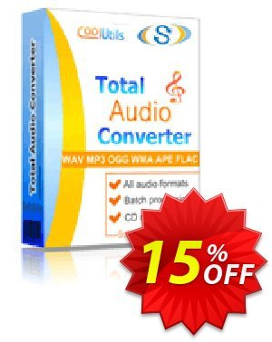 Coolutils Total Audio Converter Coupon, discount 30% OFF JoyceSoft. Promotion: