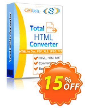 CoolUtils Total HTML Converter Coupon, discount 30% OFF JoyceSoft. Promotion: