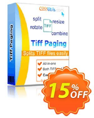 Coolutils Tiff Paging Coupon, discount 30% OFF JoyceSoft. Promotion: