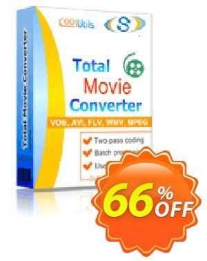 Coolutils Total Movie Converter Coupon, discount 30% OFF JoyceSoft. Promotion:
