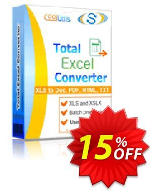 Coolutils Total Excel Converter discount coupon 30% OFF JoyceSoft -