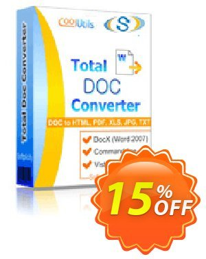 Coolutils Total Doc Converter Coupon, discount 30% OFF JoyceSoft. Promotion: