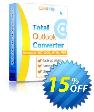 Coolutils Total Outlook Converter Coupon, discount 30% OFF JoyceSoft. Promotion:
