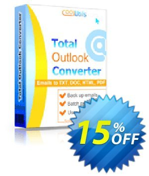 Coolutils Total Outlook Converter Pro Coupon, discount 30% OFF JoyceSoft. Promotion: