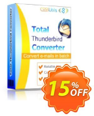 Coolutils Total Thunderbird Converter Coupon, discount 30% OFF JoyceSoft. Promotion:
