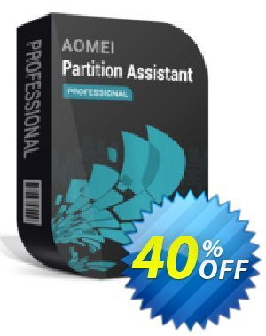 AOMEI Partition Assistant Pro + Free Lifetime Upgrade 优惠券 All Product for users 20% Off. 优惠码: AOMEI PA Professional coupon discount