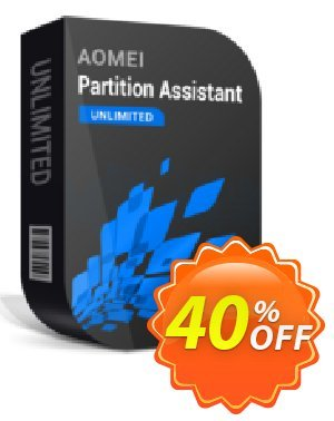 AOMEI Partition Assistant Unlimited + Lifetime Upgrade Coupon discount AOMEI Partition Assistant Unlimited + Lifetime Free Upgrades formidable discounts code 2020. Promotion: Available in my store and any affiliate store 30% off