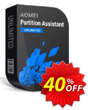 AOMEI Partition Assistant Unlimited + Free Lifetime Upgrade Coupon discount PAOfferAndAffi - Available in my store and any affiliate store 30% off