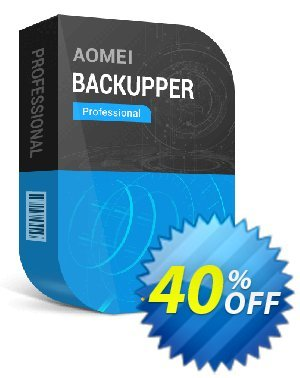 AOMEI Backupper Professional + Free Lifetime Upgrade Coupon discount All Product for users 20% Off. Promotion: