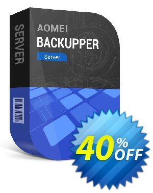 AOMEI Backupper Server Edition Coupon, discount All Product for users 20% Off. Promotion: