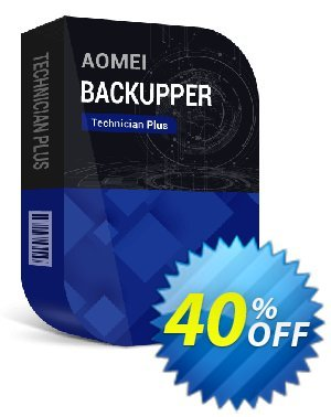 AOMEI Backupper Technician Plus + Lifetime Free Upgrades Coupon, discount All Product for users 20% Off. Promotion: