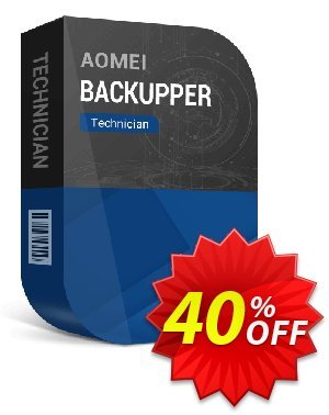 AOMEI Backupper Technician (2-Year License) 優惠券,折扣碼 All Product for users 20% Off,促銷代碼: