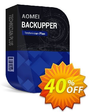 AOMEI Backupper Technician Plus (2-Year License) Coupon, discount All Product for users 20% Off. Promotion:
