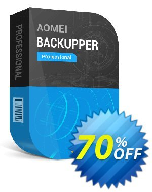 AOMEI Backupper Professional (1-Year / 2 PCs) Coupon, discount 67%OFF for ABPRO ONE YEAR. Promotion: