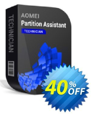 AOMEI Partition Assistant Technician 優惠券,折扣碼 All Product for users 20% Off,促銷代碼: