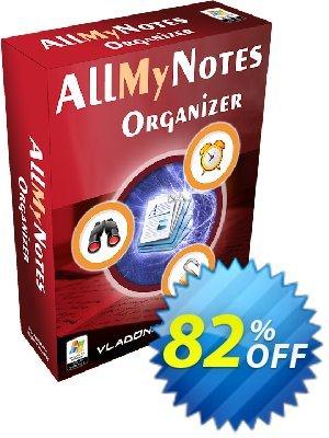 AllMyNotes Organizer Deluxe Ed. (Desktop/Portable) Coupon, discount 20% off coupon. Promotion: 20% off coupon