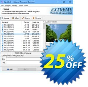 Extreme Thumbnail Generator Coupon, discount 25% OFF Extreme Thumbnail Generator, verified. Promotion: Imposing discount code of Extreme Thumbnail Generator, tested & approved