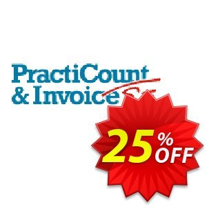 PractiCount and Invoice Standard Edition Site License discount coupon Coupon code PractiCount and Invoice (Standard Edition - Site License) - 25% OFF - PractiCount and Invoice (Standard Edition - Site License) - 25% OFF offer from Practiline