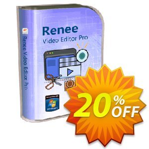 Renee Video Editor Pro (1 year) Coupon, discount Renee Video Editor Pro - 1 PC 1 year Amazing discounts code 2020. Promotion: Amazing discounts code of Renee Video Editor Pro - 1 PC 1 year 2020
