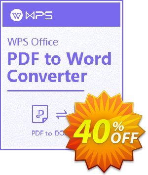 WPS PDF to Word Converter Coupon, discount Avangate Winter Contest. Promotion: WPS PDF to Word OFF