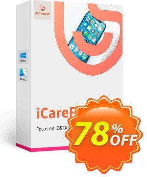 Tenorshare iCareFone discount coupon 78% OFF Tenorshare iCareFone, verified - Stunning promo code of Tenorshare iCareFone, tested & approved