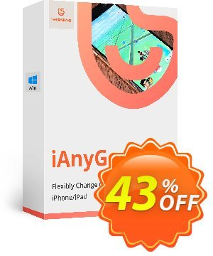 Tenorshare iAnyGo discount coupon 43% OFF Tenorshare iAnyGo, verified - Stunning promo code of Tenorshare iAnyGo, tested & approved