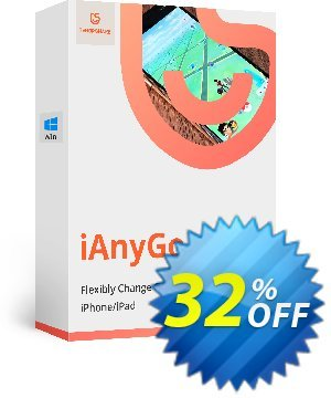 Tenorshare iAnyGo (1-Year Plan) 優惠券,折扣碼 32% OFF Tenorshare iAnyGo (1-Year Plan), verified,促銷代碼: Stunning promo code of Tenorshare iAnyGo (1-Year Plan), tested & approved