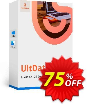 Tenorshare UltData for Windows/Mac discount coupon 75% OFF Tenorshare UltData for Windows/Mac, verified - Stunning promo code of Tenorshare UltData for Windows/Mac, tested & approved