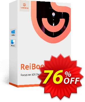 Tenorshare ReiBoot Pro offering sales 10% Tenorshare 29742. Promotion: