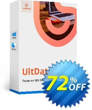 Get UltData - iPhone Data Recovery Lifetime License 67% OFF coupon code