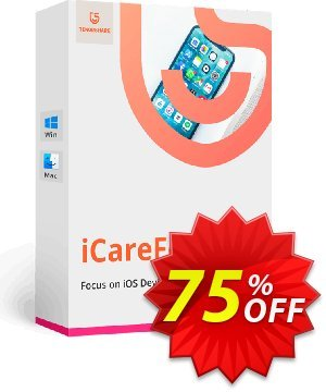 Tenorshare iCareFone (Lifetime License) Coupon, discount 75% OFF Tenorshare iCareFone (Lifetime License), verified. Promotion: Stunning promo code of Tenorshare iCareFone (Lifetime License), tested & approved