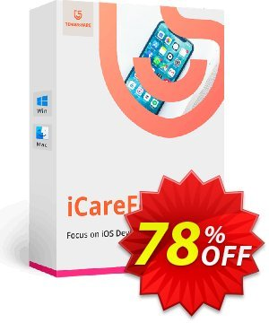 Tenorshare iCareFone (1 Year License) discount coupon 78% OFF Tenorshare iCareFone (1 Year License), verified - Stunning promo code of Tenorshare iCareFone (1 Year License), tested & approved
