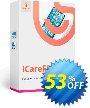 Tenorshare iCareFone (Unlimited License) Coupon, discount 53% OFF Tenorshare iCareFone (Unlimited License), verified. Promotion: Stunning promo code of Tenorshare iCareFone (Unlimited License), tested & approved